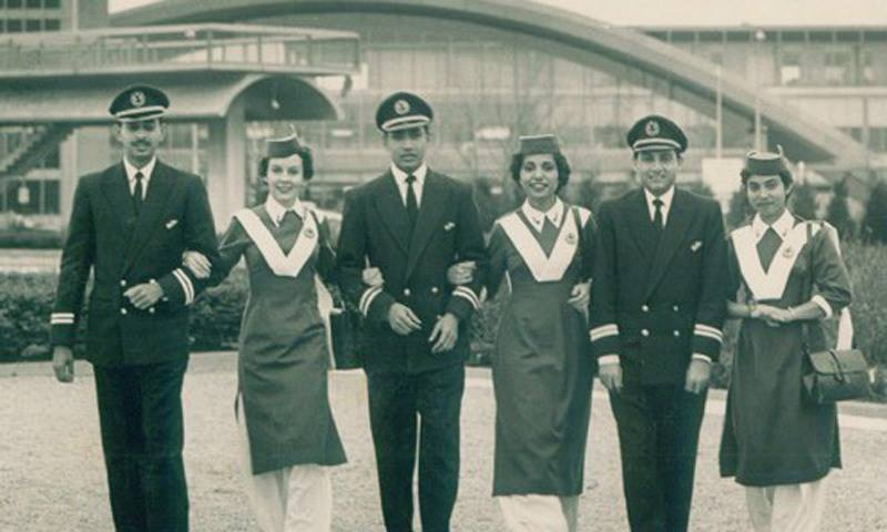 The Crew of a Pakistan International Airlines (PIA) flight in 1961