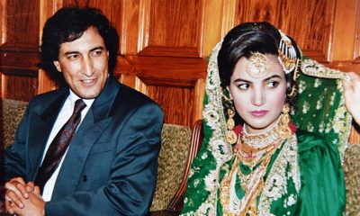 Dr Ijaz Rehman (left) pictured on his wedding day with his now ex-wife Reham in 1992